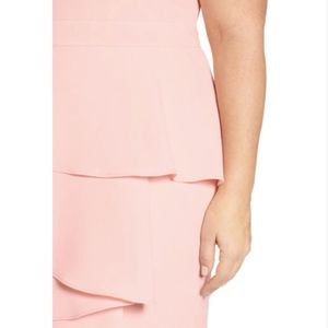 b8529ce0 Eliza J Dresses   Ella Cascade Crepe Sheath Dress Blush   Poshmark